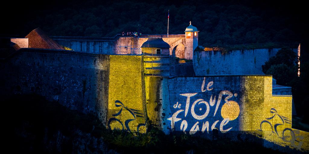 La citadelle célèbre l'arrivée du tour de France à Besançon