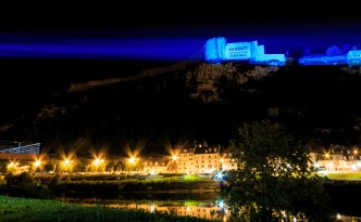 Citadelle in blue pour l'inauguration du tramway